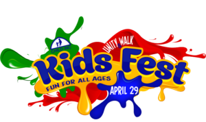 Poster for Kids Fest and Unity Walk April 29